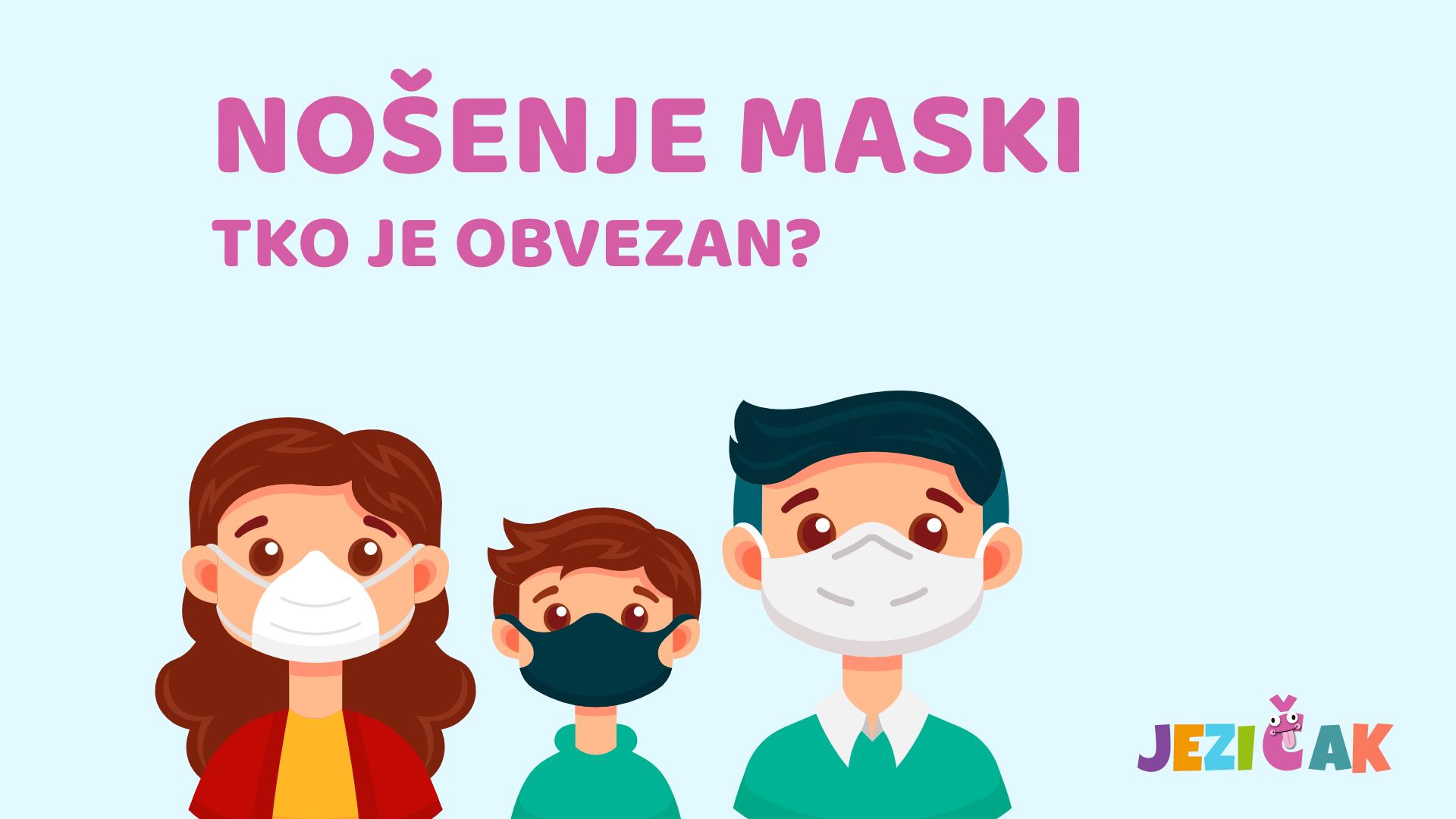 Jezičak maske - Tko je obvezan
